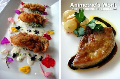 Oysters and Foie Gras at Restaurant Verbena in Discovery Country Suites