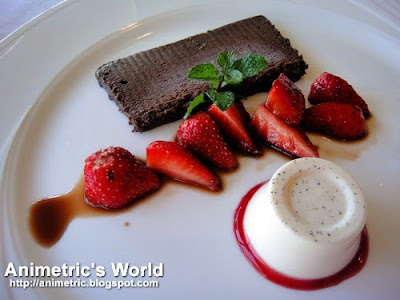 Chocolate Marquise and Panna Cotta at Restaurant Verbena in Discovery Country Suites