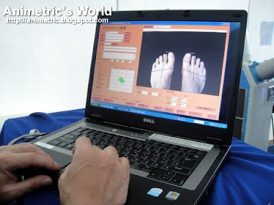 ASICS Foot Scan ID system