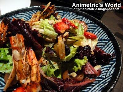 Ushi Ebi Sunburst Salad at Jozu Kin