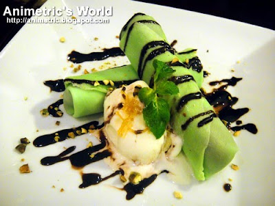 Chocolate Parfait on Pandan Crepe at Uncle Cheffy Brick-Oven Panizza