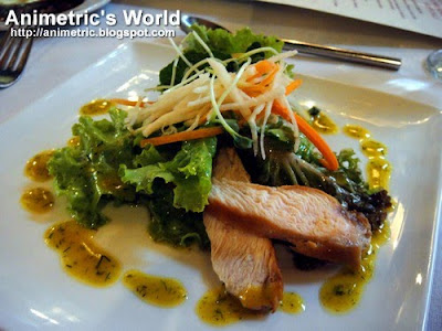 Mixed Green Salad with Smoked Chicken in Honey Mustard Dressing at Cafe Ysabel