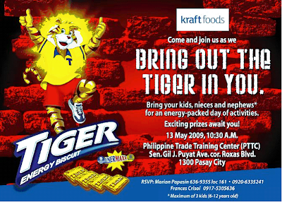 Kraft Tiger Biscuits Launch Invitation