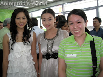Valerie Concepcion, Jodi Sta. Maria, and I @ SM Hypermarket Mandaluyong