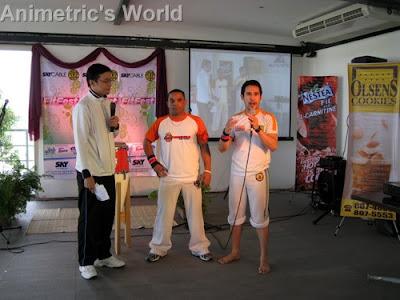Skycable FitFest host with Sinha Bahia de Capoeira's Mestre Torpedo