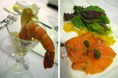Salmon Gravlax and Smoked Prawn with Mesclun and 1000 Island Coulis appetizer at Lolo Dad's Brasserie