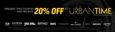 Urban Time 20% off Discount Coupon