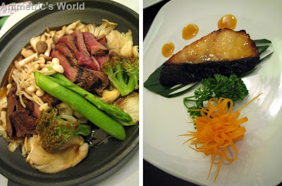 Beef Tobanyaki and Black Cod Gindara with Sweet Miso at Nama Sakana