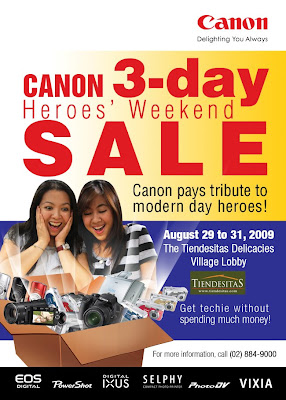 Canon 3-Day Heroes' Weekend Sale!