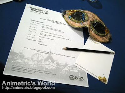 Mardi Gras mask and programme from the Enchanted Kingdom EK 14th Anniversary Media Preview