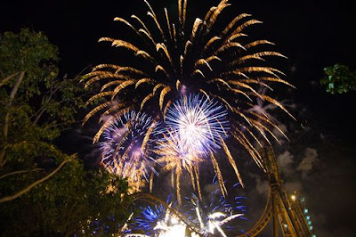 Fireworks display at Enchanted Kingdom