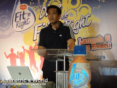 Coach Jim Saret at the Del Monte Fit 'n Right launch