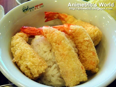Ebi Tempura Rice at Healthy Shabu-Shabu