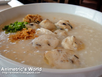 Meatball Mushroom Congee at Eat Well Delicious Kitchen