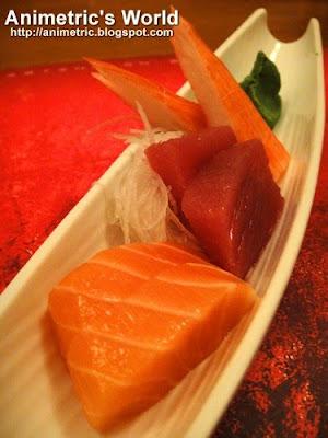 Sashimi santen-mori at Senju, Edsa Shangri-la Hotel