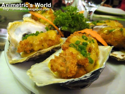 Crunchy Oysters at Asya Restaurant