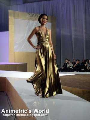 Marina Benipayo in a Jun Escario gown