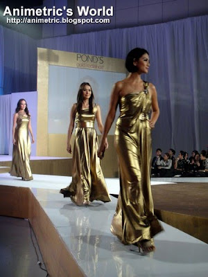 Patty Betita, Phoemela Baranda, and Sarah Meier in Jun Escario gowns