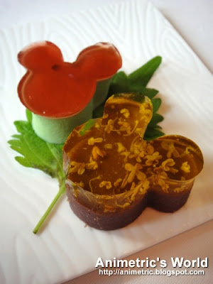 Chilled Mickey's Green Tea Jelly and Chilled Mickey's Red Bean Jelly with Osmanthus Honey at Crystal Lotus, Hong Kong Disneyland Hotel