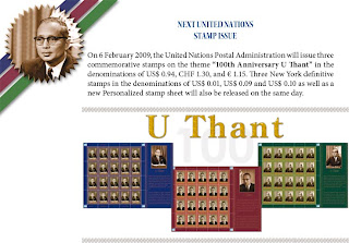 >stamp for the 100th anniversary of U Thant