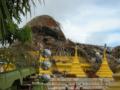 >temple building collapses, killing 2