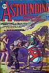 Cover image of magazine called Astounding Stories of Super-Science, January 1930 issue. Image was painted in water colors by H W Wessolowski from a scene in the included story titled The Beetle Horde by Victor Rousseau. Click image for full sized original scan image.