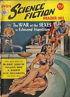 Cover image of Avon Science Fiction Reader No 1, April 1951, edited by Donald A Wollheim