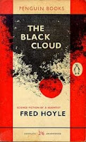 Cover of the 1957 novel titled The Black Cloud by Fred Hoyle