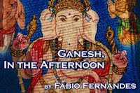 Illustration of Lord Ganesh, accompanying the short story titled Ganesh, In the Afternoon by Fabio Fernandes