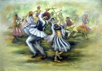 Navaratri Garbha dance painting. Click image for full size original.