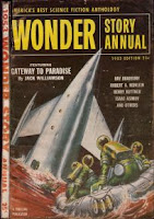 Cover image of science fiction reprint anthology titled Wonder Story Annual, Vol 2 No 1,1953 Edition, edited by Samuel Mines