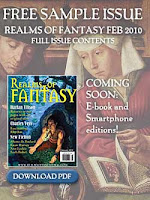 Cover image of Realms of Fantasy magazine, February 2010 issue