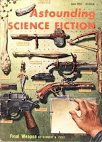 Cover image by Freas of Astounding Science Fiction magazine, June 1955 issue