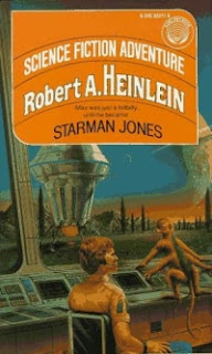 Cover image of 1953 juvenile space opera, Starman Jones, by Robert A Heinlein