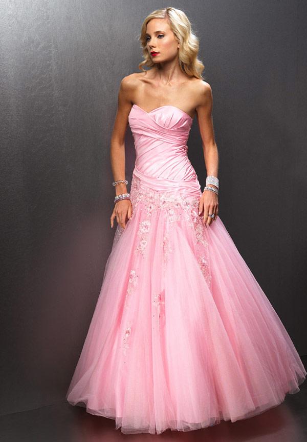 List Fashion Style: Vestido para fiesta de 15 años de color rosado