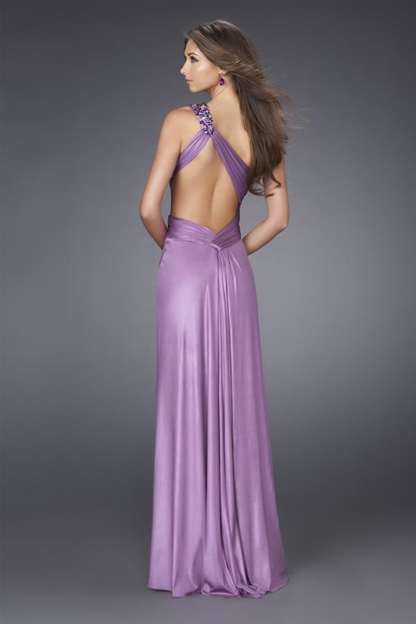 Vestido para fiesta de promoción sexy de color lila o fucsia - Prom ...