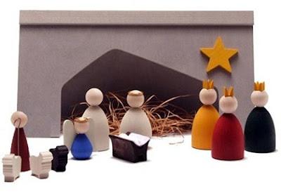 Bel n o nacimiento minimalista hecho de madera navidad de deseos - Belen moderno ...