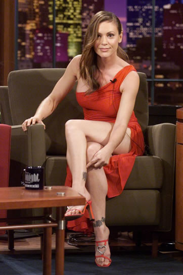 Alyssa Milano Tattoos. The U.S. actor-queen has a few tattoos on the ankles