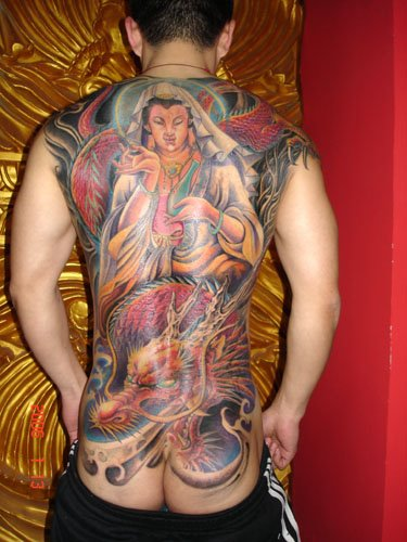 praying angel tattoo. Chest Tattoos For Men Japanese