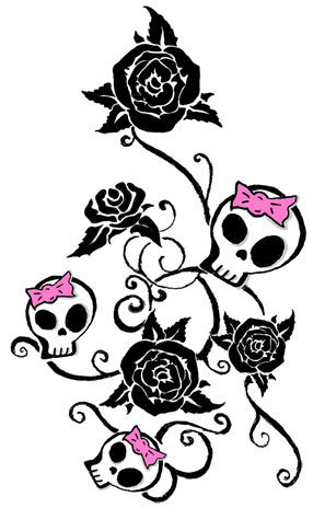 girly skull tattoo Some people use tattoos as a way