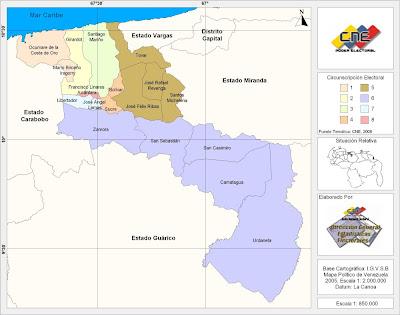 Estado Aragua - Mapa político
