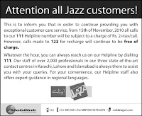 Jazz Customers Alert