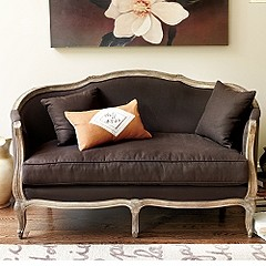 that upholstered bench above would be lovely but so would this setee - Setee