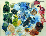 My Unorganized Palette with Oil Paint