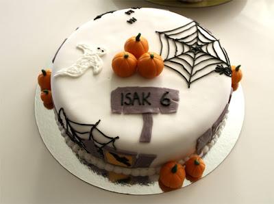 En nydelig Halloween bursdagskake!