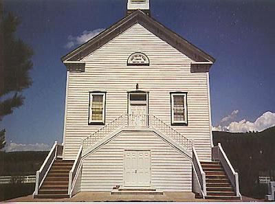 Pine Valley Chapel - Construite par Ebenezer Bryce comme un bateau renversé
