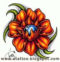 tattoo orquidea colorida