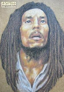 Desenho Bob Marley