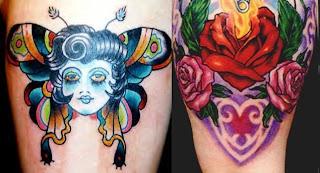 Tatuagem Old School e Tatuagem New School