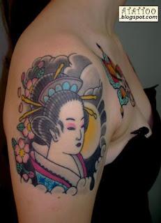 Gueixa, tatuagem oriental